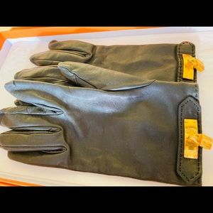HERMES Cadena Charm Gloves w/clip ** AUTHENTIC **